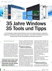 Titelbild der Ausgabe 12/2020 von Windows: 35 Jahre Windows 35 Tools und Tipps. Zeitschriften als Abo oder epaper bei United Kiosk online kaufen.