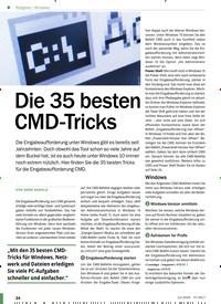 Titelbild der Ausgabe 12/2020 von Windows: Die 35 besten CMD-Tricks. Zeitschriften als Abo oder epaper bei United Kiosk online kaufen.