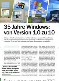 Titelbild der Ausgabe 12/2020 von Windows: 35 Jahre Windows: von Version 1.0 zu 10. Zeitschriften als Abo oder epaper bei United Kiosk online kaufen.