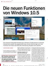 Titelbild der Ausgabe 5/2018 von Windows 10.5: Die neuen Funktionen von Windows 10.5. Zeitschriften als Abo oder epaper bei United Kiosk online kaufen.