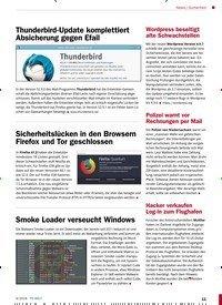 Titelbild der Ausgabe 9/2018 von Sicherheit: Thunderbird-Update komplettiert Absicherung gegen Efail. Zeitschriften als Abo oder epaper bei United Kiosk online kaufen.