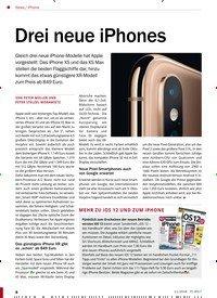 Titelbild der Ausgabe 11/2018 von iPhone: Drei neue iPhones. Zeitschriften als Abo oder epaper bei United Kiosk online kaufen.