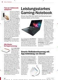 Titelbild der Ausgabe 11/2018 von Hardware: Leistungsstarkes Gaming-Notebook. Zeitschriften als Abo oder epaper bei United Kiosk online kaufen.