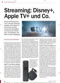 Titelbild der Ausgabe 1/2020 von Streamingdienste: Streaming: Disney+, Apple TV+ und Co.. Zeitschriften als Abo oder epaper bei United Kiosk online kaufen.