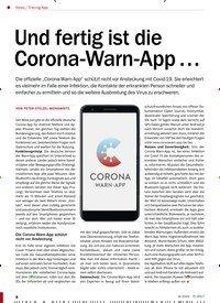 Titelbild der Ausgabe 8/2020 von Tracing-App: Und fertig ist die Corona-Warn-App …. Zeitschriften als Abo oder epaper bei United Kiosk online kaufen.