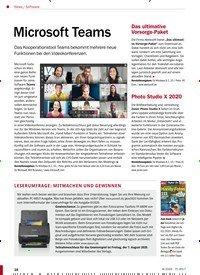 Titelbild der Ausgabe 8/2020 von Software: Microsoft Teams. Zeitschriften als Abo oder epaper bei United Kiosk online kaufen.