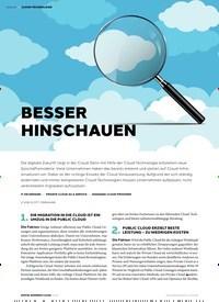 Titelbild der Ausgabe 1/2019 von CLOUD-TECHNOLOGIE: BESSER HINSCHAUEN. Zeitschriften als Abo oder epaper bei United Kiosk online kaufen.
