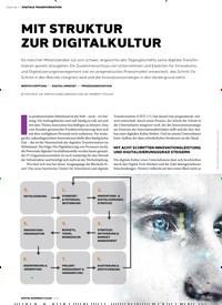 Titelbild der Ausgabe 1/2019 von DIGITALE TRANSFORMATION MIT STRUKTUR ZUR DIGITALKULTUR. Zeitschriften als Abo oder epaper bei United Kiosk online kaufen.
