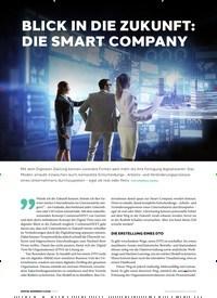 Titelbild der Ausgabe 3/2019 von BLICK IN DIE ZUKUNFT: DIE SMART COMPANY. Zeitschriften als Abo oder epaper bei United Kiosk online kaufen.
