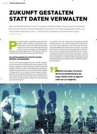Titelbild der Ausgabe 4/2019 von DIGITALE PERSONALAKTE: ZUKUNFT GESTALTEN STATT DATEN VERWALTEN. Zeitschriften als Abo oder epaper bei United Kiosk online kaufen.