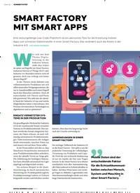 Titelbild der Ausgabe 5/2019 von SMART FACTORY MIT SMART APPS. Zeitschriften als Abo oder epaper bei United Kiosk online kaufen.