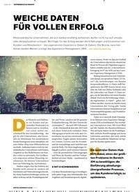 Titelbild der Ausgabe 6/2019 von WEICHE DATEN FÜR VOLLEN ERFOLG. Zeitschriften als Abo oder epaper bei United Kiosk online kaufen.