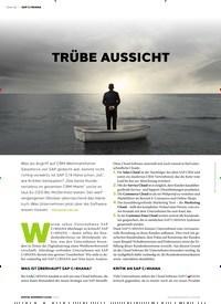 Titelbild der Ausgabe 1/2020 von TRÜBE AUSSICHT. Zeitschriften als Abo oder epaper bei United Kiosk online kaufen.