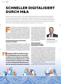 Titelbild der Ausgabe 3/2020 von SCHNELLER DIGITALISIERT DURCH M&A. Zeitschriften als Abo oder epaper bei United Kiosk online kaufen.