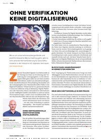 Titelbild der Ausgabe 3/2020 von OHNE VERIFIKATION KEINE DIGITALISIERUNG. Zeitschriften als Abo oder epaper bei United Kiosk online kaufen.
