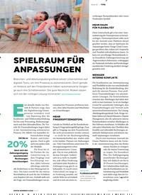 Titelbild der Ausgabe 6/2020 von TITEL: SPIELRAUM FÜR ANPASSUNGEN. Zeitschriften als Abo oder epaper bei United Kiosk online kaufen.