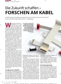Titelbild der Ausgabe 7/2020 von Die Zukunft schaffen - FORSCHEN AM KABEL. Zeitschriften als Abo oder epaper bei United Kiosk online kaufen.