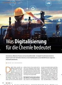 Titelbild der Ausgabe 1/2019 von DIGITAL PROCESS INDUSTRY: Was Digitalisierung für die Chemie bedeutet. Zeitschriften als Abo oder epaper bei United Kiosk online kaufen.