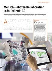 Titelbild der Ausgabe 1/2019 von DIGITAL PROCESS INDUSTRY: Mensch-Roboter-Kollaboration in der Industrie 4.0. Zeitschriften als Abo oder epaper bei United Kiosk online kaufen.