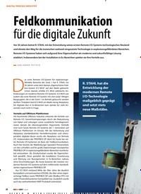 Titelbild der Ausgabe 1/2019 von DIGITAL PROCESS INDUSTRY: Feldkommunikation für die digitale Zukunft. Zeitschriften als Abo oder epaper bei United Kiosk online kaufen.