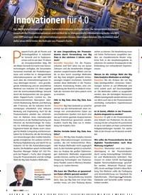 Titelbild der Ausgabe 2/2019 von Innovationen für 4.0. Zeitschriften als Abo oder epaper bei United Kiosk online kaufen.