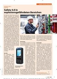 Titelbild der Ausgabe 2/2019 von DIGITAL PROCESS INDUSTRY: ERKUNDET ÜBER …: Safety 4.0 in explosionsgefährdeten Bereichen. Zeitschriften als Abo oder epaper bei United Kiosk online kaufen.