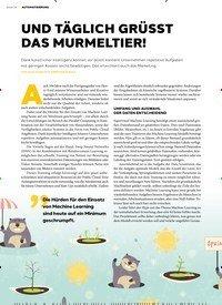 Titelbild der Ausgabe 2/2019 von Seite 14: AUTOMATISIERUNG: UND TÄGLICH GRÜSST DAS MURMELTIER!. Zeitschriften als Abo oder epaper bei United Kiosk online kaufen.