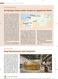 Titelbild der Ausgabe 4/2019 von UNTERWASSER-ARCHÄOLOGIE: Archäologen finden antike Tempel vor ägyptischer Küste. Zeitschriften als Abo oder epaper bei United Kiosk online kaufen.