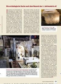 Titelbild der Ausgabe 4/2019 von Die archäologische Suche nach dem Nazaret des 1. Jahrhunderts Nc. Zeitschriften als Abo oder epaper bei United Kiosk online kaufen.