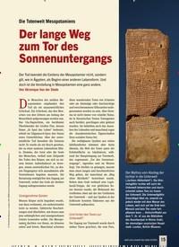 Titelbild der Ausgabe 4/2020 von Die Totenwelt Mesopotamiens: Der lange Weg zum Tor des Sonnenuntergangs. Zeitschriften als Abo oder epaper bei United Kiosk online kaufen.