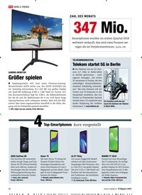 Titelbild der Ausgabe 7/2018 von ZAHL DES MONATS: 347 Mio.. Zeitschriften als Abo oder epaper bei United Kiosk online kaufen.