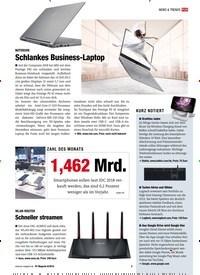 Titelbild der Ausgabe 8/2018 von NEWS & TRENDS ZAHL DES MONATS: 1,462 Mrd.. Zeitschriften als Abo oder epaper bei United Kiosk online kaufen.