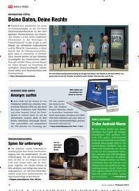 Titelbild der Ausgabe 8/2018 von INFORMATIONS-PORTAL: Deine Daten, Deine Rechte. Zeitschriften als Abo oder epaper bei United Kiosk online kaufen.