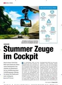 Titelbild der Ausgabe 8/2018 von NEWS & TRENDS: DASHCAMS: Stummer Zeuge im Cockpit. Zeitschriften als Abo oder epaper bei United Kiosk online kaufen.