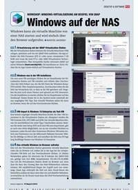 Titelbild der Ausgabe 8/2018 von WORKSHOP: WINDOWS-VIRTUALISIERUNG AM BEISPIEL VON QNAP: Windows auf der NAS. Zeitschriften als Abo oder epaper bei United Kiosk online kaufen.