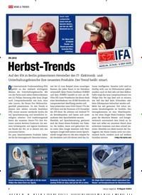 Titelbild der Ausgabe 10/2018 von IFA 2018: Herbst-Trends. Zeitschriften als Abo oder epaper bei United Kiosk online kaufen.