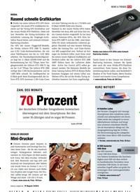 Titelbild der Ausgabe 10/2018 von NVIDIA: Rasend schnelle Grafikkarten. Zeitschriften als Abo oder epaper bei United Kiosk online kaufen.