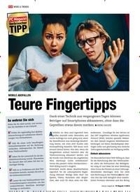 Titelbild der Ausgabe 11/2018 von MOBILE ABOFALLEN: Teure Fingertipps. Zeitschriften als Abo oder epaper bei United Kiosk online kaufen.