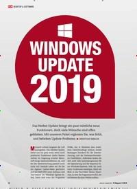 Titelbild der Ausgabe 11/2018 von Windows Update 2019. Zeitschriften als Abo oder epaper bei United Kiosk online kaufen.