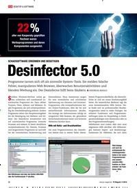 Titelbild der Ausgabe 11/2018 von Desinfector 5.0. Zeitschriften als Abo oder epaper bei United Kiosk online kaufen.