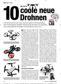 Titelbild der Ausgabe 12/2018 von MULTICOPTER: 10 coole neue Drohnen: Future LAB. Zeitschriften als Abo oder epaper bei United Kiosk online kaufen.