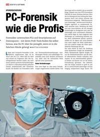 Titelbild der Ausgabe 12/2018 von SPURENSICHERUNG: PC-Forensik wie die Profis. Zeitschriften als Abo oder epaper bei United Kiosk online kaufen.