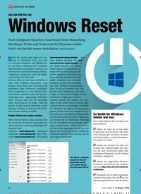 Titelbild der Ausgabe 1/2019 von WIE AM ERSTEN TAG: Windows Reset. Zeitschriften als Abo oder epaper bei United Kiosk online kaufen.