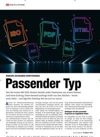 Titelbild der Ausgabe 1/2019 von WINDOWS-DATEINAMEN-ERWEITERUNGEN: Passender Typ. Zeitschriften als Abo oder epaper bei United Kiosk online kaufen.