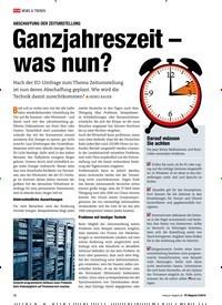 Titelbild der Ausgabe 2/2019 von ABSCHAFFUNG DER ZEITUMSTELLUNG: Ganzjahreszeit – was nun?. Zeitschriften als Abo oder epaper bei United Kiosk online kaufen.