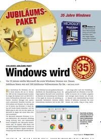 Titelbild der Ausgabe 2/2019 von EXKLUSIVES JUBILÄUMS-PAKET: Windows wird. Zeitschriften als Abo oder epaper bei United Kiosk online kaufen.