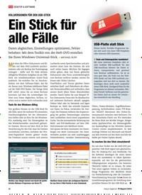 Titelbild der Ausgabe 2/2019 von VOLLVERSIONEN FÜR DEN USB-STICK: Ein Stick für alle Fälle. Zeitschriften als Abo oder epaper bei United Kiosk online kaufen.