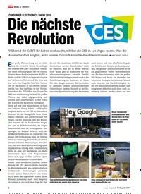 Titelbild der Ausgabe 3/2019 von CONSUMER ELECTRONICS SHOW 2019: Die nächste Revolution. Zeitschriften als Abo oder epaper bei United Kiosk online kaufen.