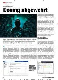 Titelbild der Ausgabe 3/2019 von ONLINE-SICHERHEIT: Doxing abgewehrt. Zeitschriften als Abo oder epaper bei United Kiosk online kaufen.