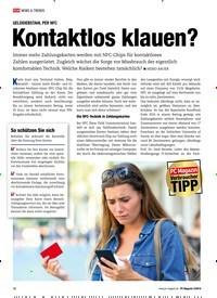 Titelbild der Ausgabe 3/2019 von GELDDIEBSTAHL PER NFC: Kontaktlos klauen?. Zeitschriften als Abo oder epaper bei United Kiosk online kaufen.